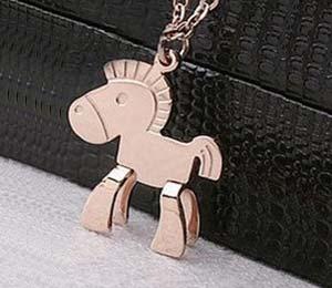 Gold / Silver horse pendant