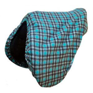 Fleece Saddle Cover (Teal Check)